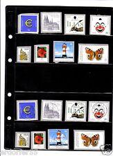 BRD - Folien Marken  ( gest. + postf ) + Zugaben
