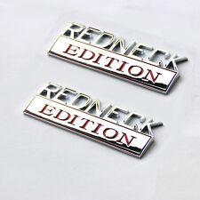 2pcs OEM REDNECK EDITION EMBLEM  Badge Wu for F-150 FORD F350 Chrome Red