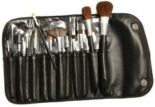 Morphe 600 Sable 12 Piece Makeup Brush Set Faux Leather Case Concealer  Powder