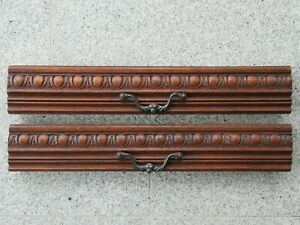1 pair of French antique large hand-carved architectural drawer fronts / panels