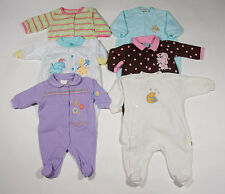 BABY GIRLS 0-3M 3 M  SLEEPERS LOT 6 PJ'S PAJAMAS FOOTED CARTERS 3 MONTHS