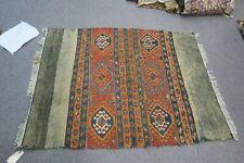 Antique 3' x 4' Handmade Sumak Kazak Russian Kurdish Oriental Rug Kilim Woven