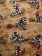 Quilting Patchwork Sewing Fabric MOTOCROSS MOTORBIKES Material 50x55cm FQ New