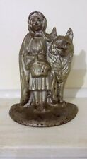 VINTAGE NATIONAL FOUNDRY CAST IRON LITTLE RED RIDING HOOD BIG BAD WOLF DOORSTOP