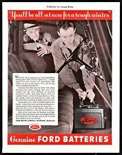 1936 FORD Car Battery Vintage Automotive Auto Genuine Parts Print AD