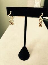 Tiffany & Co. Paloma Picasso 18K Gold Zigzag Hoop Earrings