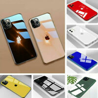 Tempered Glass Phone Case For iPhone 11 Pro Xs Max 8 Cover Luxury TPU Hard Cover