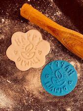 Happy Diwali Lamp Light Cookie Fondant Embosser Stamp 3D Printed 6cm