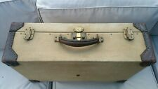 Hermes vintage  wood & linen suitcase