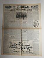N353 La Une Du Journal Le journal 8 décembre 1918 voyage en Alsace Lorraine