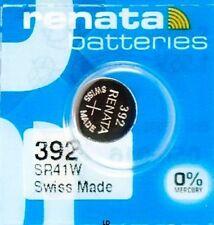 392 RENATA SR41W SR41 V392 D392 Watch Battery Free Shipping Authorized Seller
