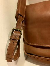 LANDS END BROWN LEATHER MESSENGER BAG, Men or Women
