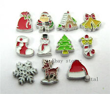 11pcs Christmas Floating charms For Glass living memory Locket FC321
