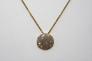 $4,100 1.25CT NATURAL ROUND CUT DIAMOND CLUSTER DISC DROP NECKLACE 18K GOLD