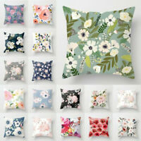 Floral Printed Pillow Case Sofa Cushion Cover Home Living Room Decor 45x45cm