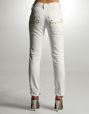 "Diesel Joyze 008ac Stretch Ivory White Tapered Ankle Length Jeans 25 X 30"" Nwt"