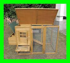 CHICKEN COOP HEN HOUSE POULTRY ARK RABBIT HUTCH RUN NEW LARGE DUCK  BIRDS