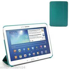 Custodia Pieghevole Verde Azzurra Ecopelle per Samsung Galaxy Tab 3 10.1 Cover
