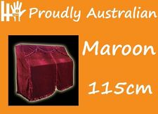 115cm MAROON RED Velour STEINBACH Upright Piano Opening Cover 4 any Kawai Yamaha