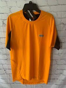 New Mens Louis Garneau Tech Trail Cycling Jersey Shirt Vibrant Orange Size Small