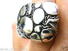 NICE!!! John Hardy NWT Heavy,  Bold Zen Pillow  Ring in Sterling Silver