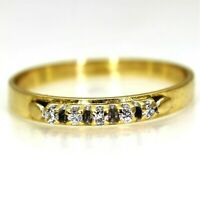 Pretty Diamond Half Eternity 18ct Yellow Gold Stacking Band Ring size L ~ 5 3/4