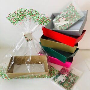HAMPER GIFT BOXES DIY KIT CHRISTMAS Gift Sweet TRAY Cardboard CHOOSE COLOUR