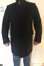 HUGO BY HUGO BOSS  Mens C-Sintrax Band Collar Coat 46 R Dark Grey Overcoat