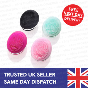 ELECTRIC FACE CLEANSER SILICON BRUSH FACE PORE CLEANSING VIBRATION MASSAGER UK