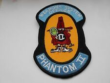 American aviation squadron cloth patch   weapons system officer phantom 11