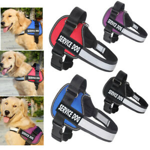 Dog Vest Harness No Pull Padded Collar W/ Patches for German Shepherd Labrador