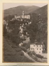 Suisse Locarno Madonna del Sasso Vintage albumen print,  Tirage albuminé  18