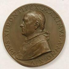 Vaticano vatican city Pio XI MEDAGLIA A. XIV Mistruzzi D.248