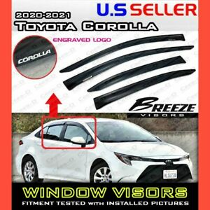 for 20 21 Toyota Corolla Sedan / WINDOW VISORS DEFLECTOR RAIN GUARD VENT SHADE