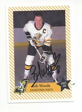 1991-92 Johnstown Chiefs (ECHL) Bob Woods (autographed)