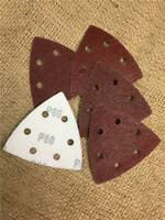 CLEARANCE LINE W155 60GRIT TRIANGULAR HOOK LOOP SANDING PADS SHEET DETAIL DELTA