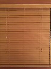New Timber Venetian Blinds 50mm Basswood - Teak - 75 cm x 210 cm.