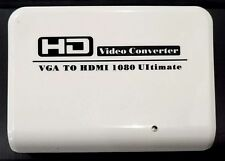 VGA to HDMI Converter Adapter Box With Audio 1080p for PC Laptop PS3 Projector
