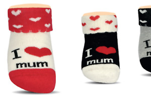 Baby Thermo-Stoppersocken I love Mum 3 Paar, Gr. 13/15 bis 19/21