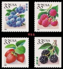 3294-97 3294 3295 3296 3297 Fruit Berries 4 Singles From Pane Set MNH - Buy Now