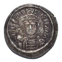 SILVER INTERPRETATION OF BYZANTINE AV SOLIDUS THEODOSIUS 592 AD MAURICE TIBERIUS