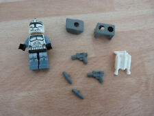 Figurine compatible Lego Star WARS : Wolfpack Clone Trooper + accessoires Wolffe