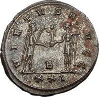CARINUS as CAESAR receives Globe from NUMERIAN Antioch Ancient Roman Coin i65453
