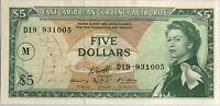 CARAIBES - 5 DOLLARS 1965 - Billet de banque NEUF