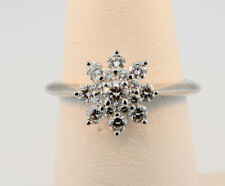 Tiffany & Co. Flower Diamond Ring in Platinum Size 6 Retail $5,335 w Tax