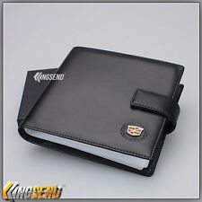 CADILLAC Leather CD Case Wallet Car DVD Holder Discs Organizer Storage Carry