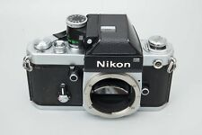Nikon F2 35mm SLR Film Camera Body Chrome w/ DP-1 Viewfinder Prism, F-2 DP1