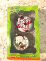 Set SpongeBob Squarepants / Patrick Glass Holidays Ornaments New in  Box