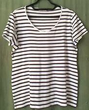 Women's Top, 18, Striped, M&S. Short Sleeve