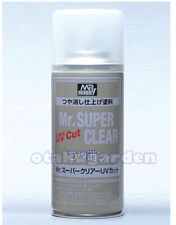 MR HOBBY Creos GSI ACRYLIC SPRAY 170ml SUPER CLEAR UV Cut FLAT MATT B523